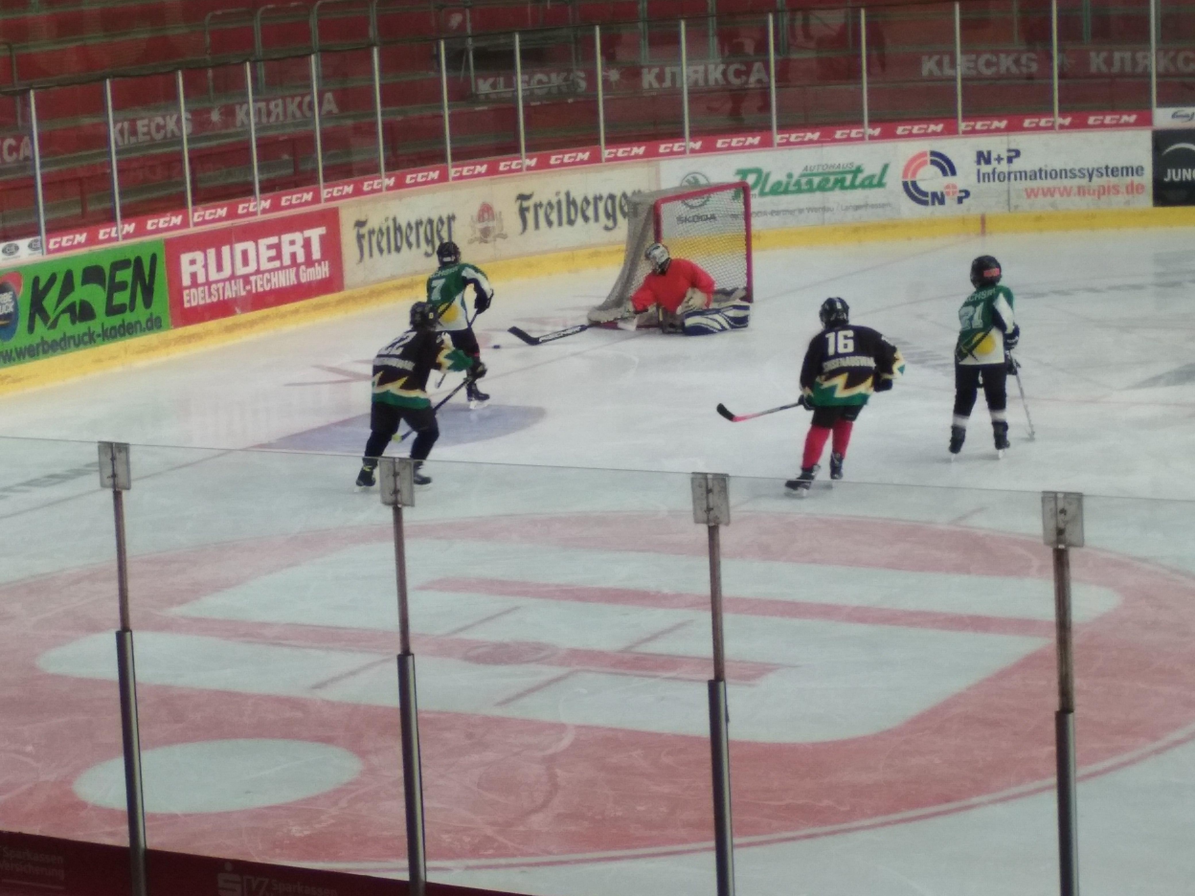 Spielszene im Rahmen der Sichtung in Crimmitschau